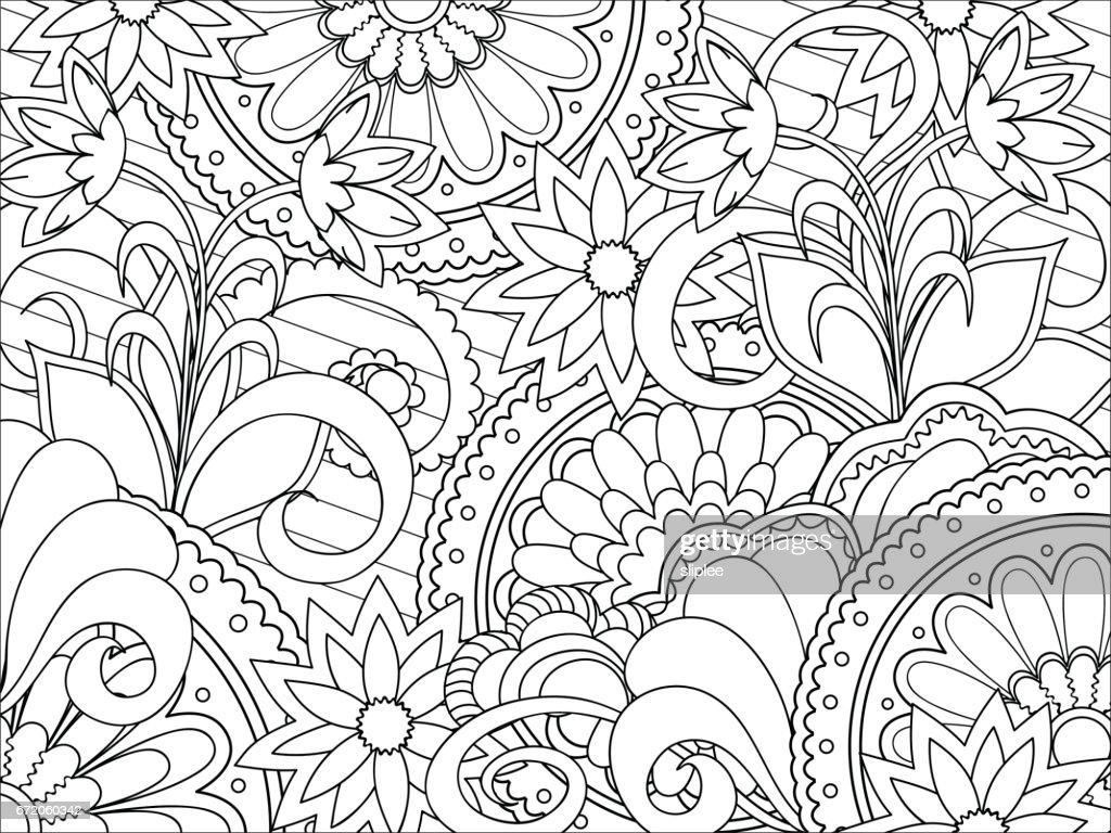 floral zen pattern