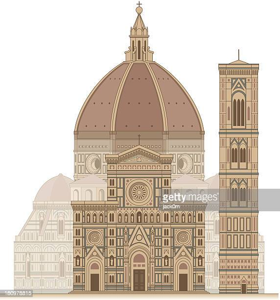 florence cathedral - tuscany stock illustrations, clip art, cartoons, & icons