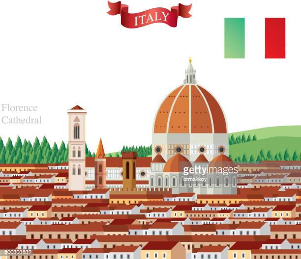 florence - architectural dome stock illustrations, clip art, cartoons, & icons