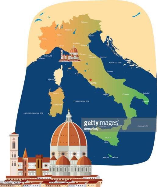 florence - naples italy stock illustrations
