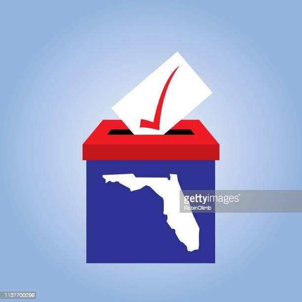 florida ballot box icon - voting ballot stock illustrations