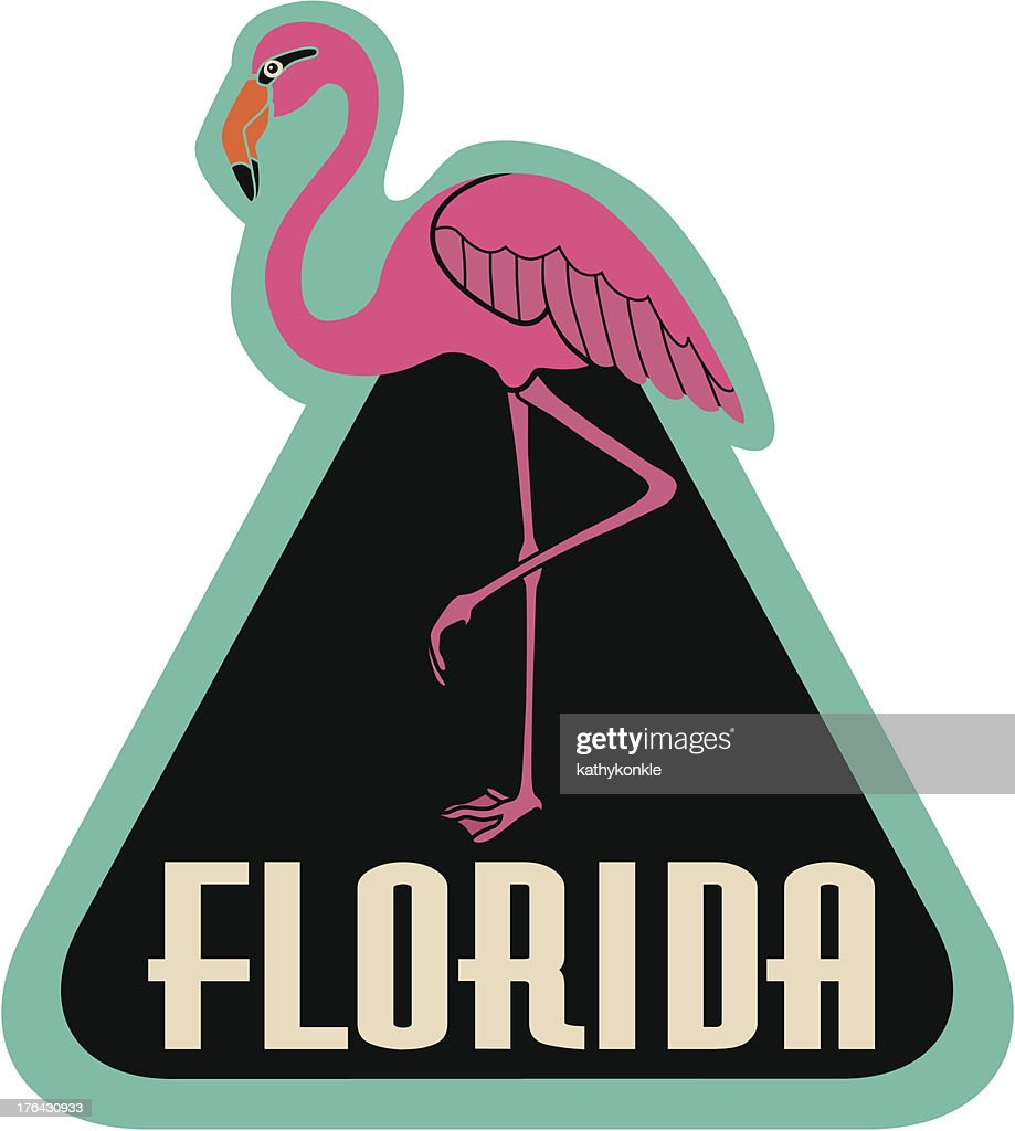 Florida luggage label or travel sticker : stock illustration