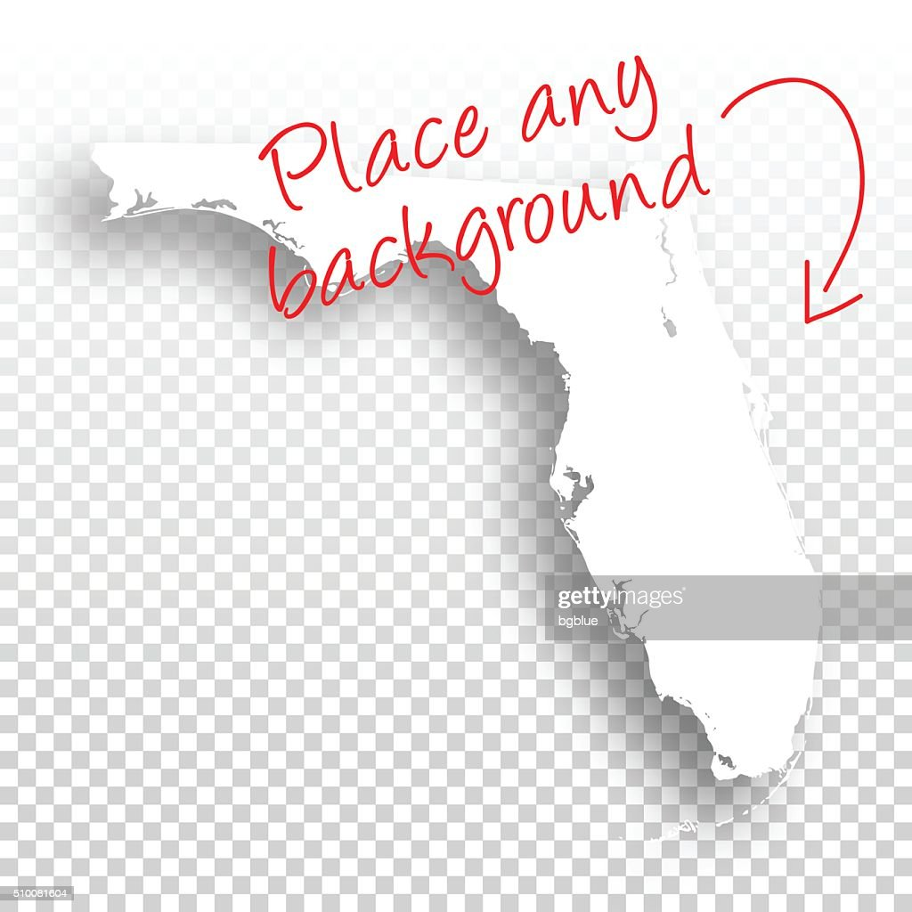 Florida Map Blank.Florida Map For Design Blank Background Vector Art Getty Images