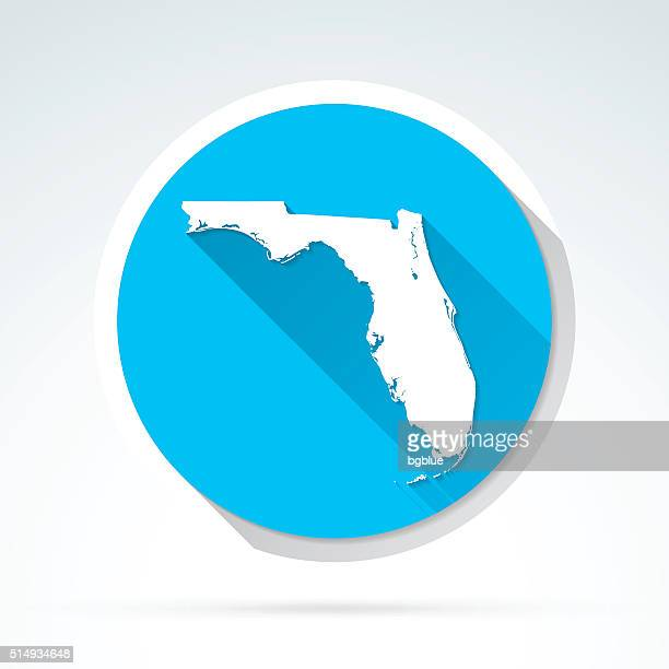 Florida map icon, Flat Design, Long Shadow