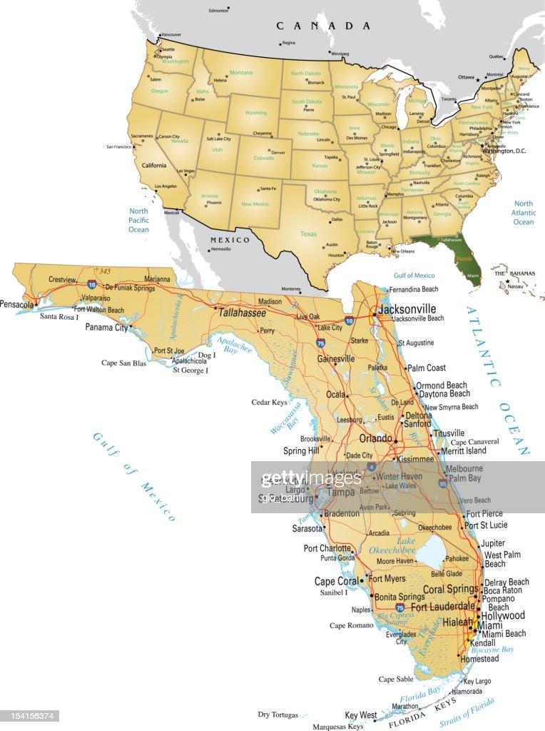 Avon Park Florida Map.Florida Map Vector Art Getty Images