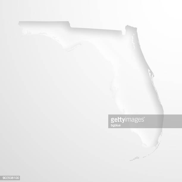 Florida Map With Embossed Paper Effect On Blank Background High Res Vector Graphic Getty Images