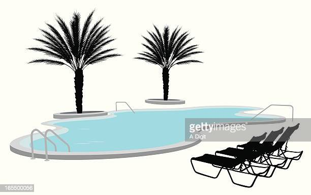 Florida Pool Vector Silhouette