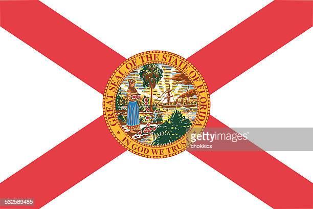 フロリダ州旗 - 米メキシコ湾沿岸点のイラスト素材/クリップアート素材/マンガ素材/アイコン素材