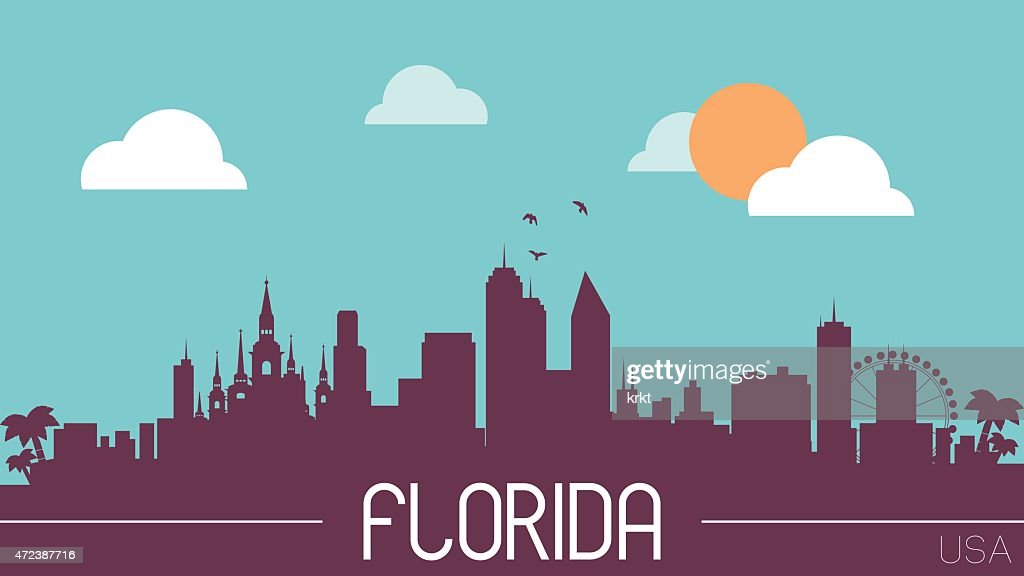 Florida USA skyline silhouette