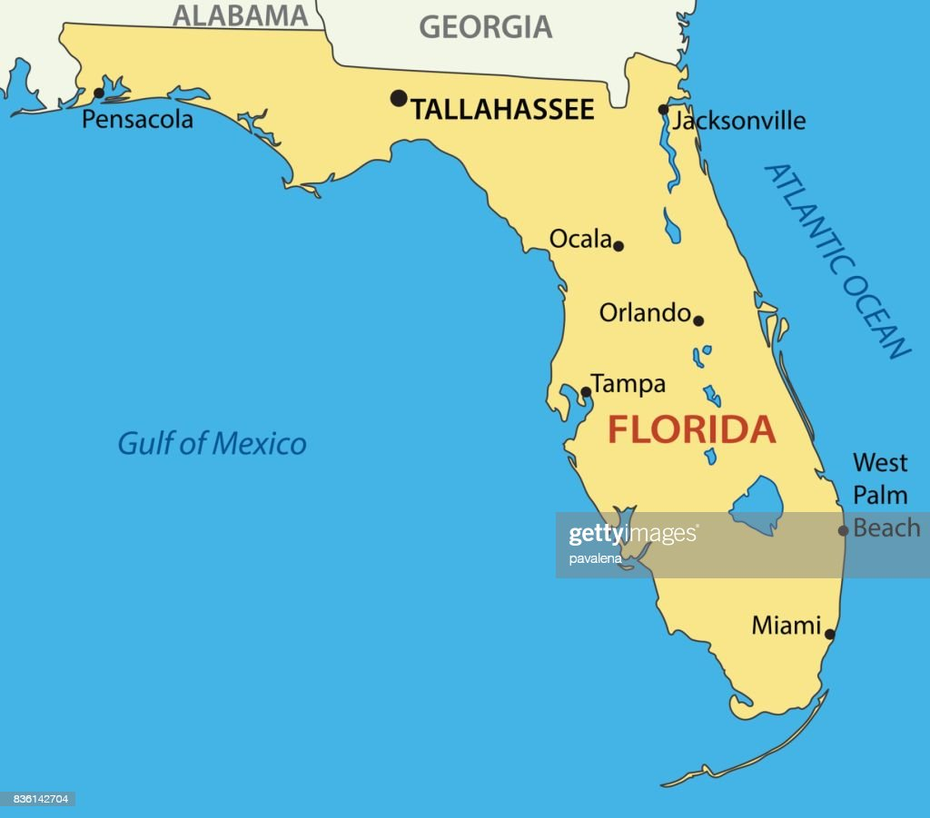Florida - vector map
