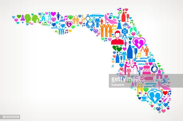 Florida Wedding and Love Vector Graphic