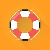 Flotation Ring Flat Icon