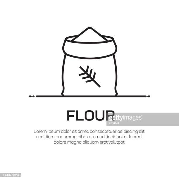 Flour Bag Vector Line Icon - Simple Thin Line Icon, Premium Quality Design Element