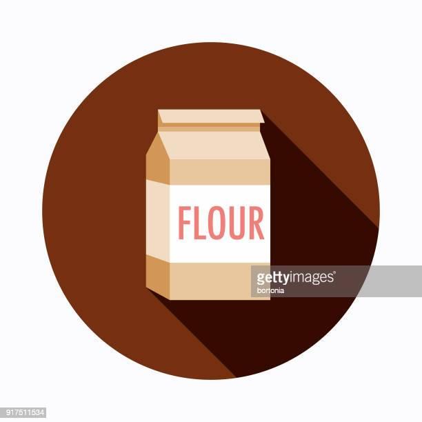flour flat design baking icon - flour stock illustrations
