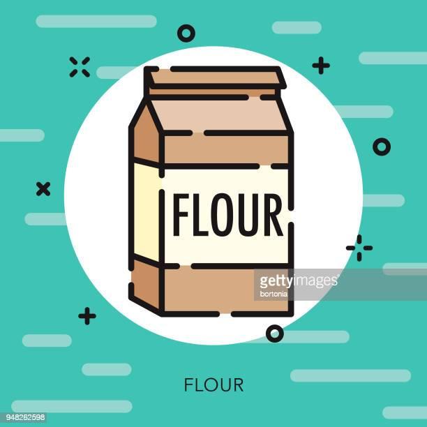 Flour Open Outline Baking Icon