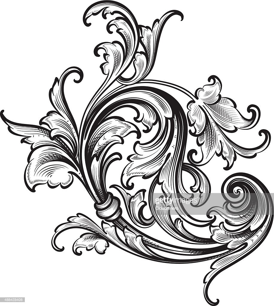 Flourish Arabesque Scrollwork