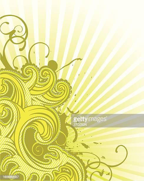 flourish wave background
