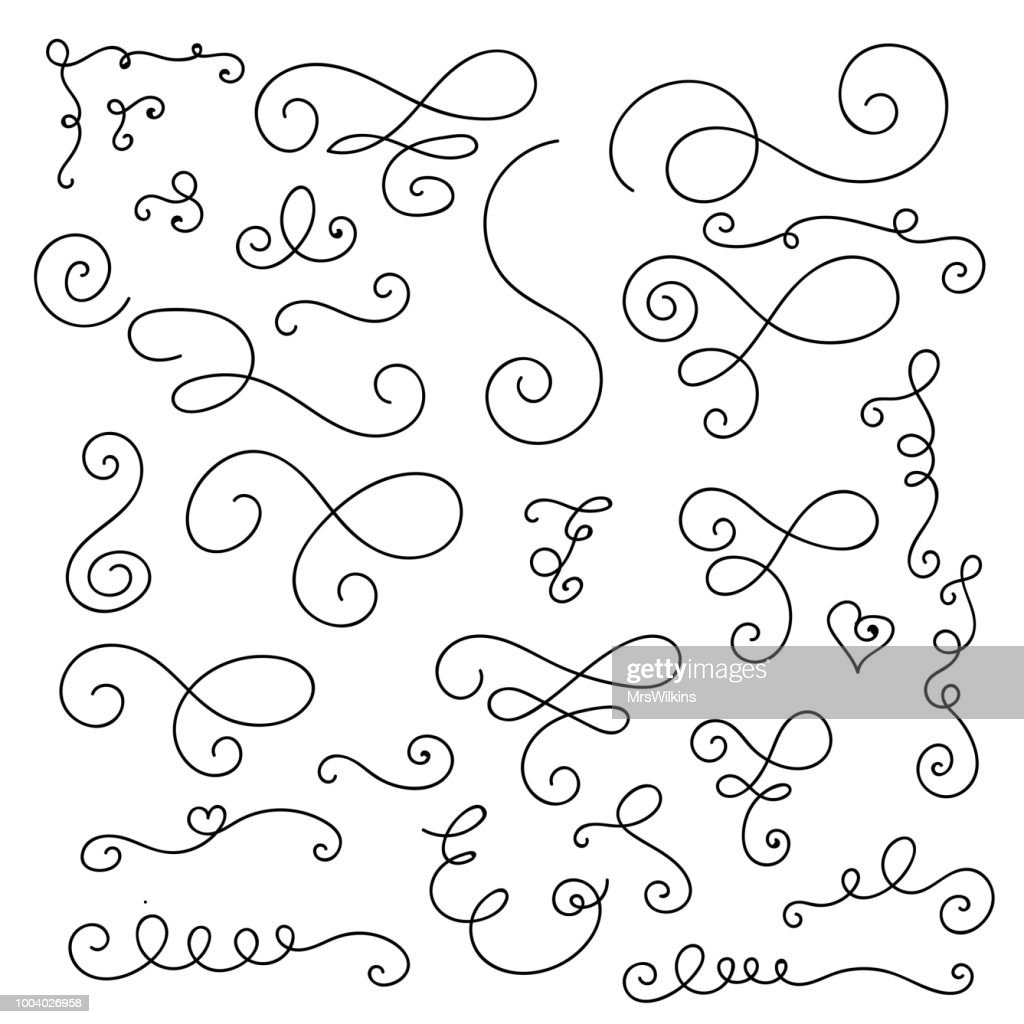 Flourishes, swirls, decorative elements vector collection