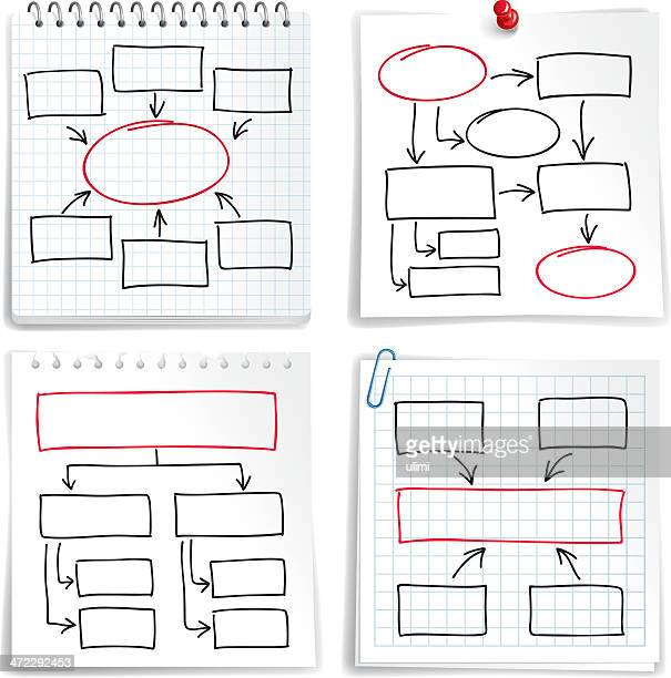 flow charts - rectangle stock illustrations