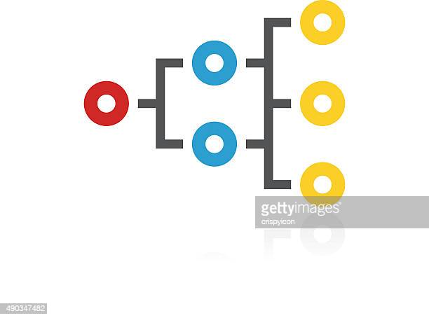 Flowchart icon on a white background. - ColorSeries