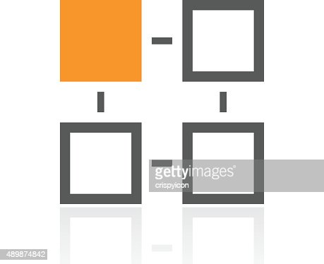 Flowchart Icon On A White Background Pro Series Vector Art Getty