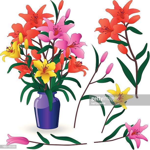 Blumenschmuck mit Wasserlilien