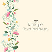 flower background concept of retro style color