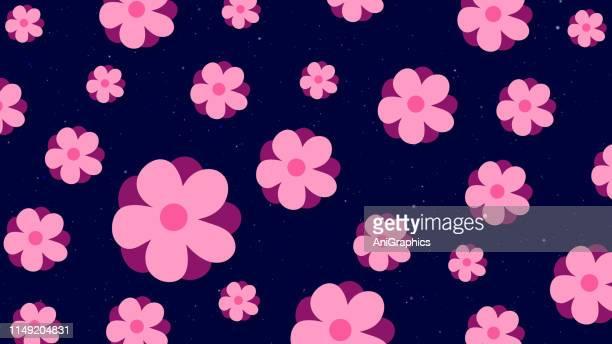 illustrations, cliparts, dessins animés et icônes de fond de fleur - très tendance