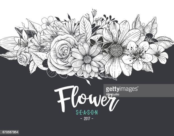 flower background - wedding invitation stock illustrations, clip art, cartoons, & icons