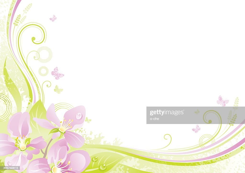 Flower background with copyspace: Cherry Blossom