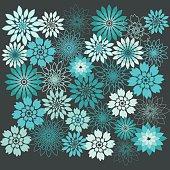 Flower Background.Floral Seamless Background.Flower Design Elements.