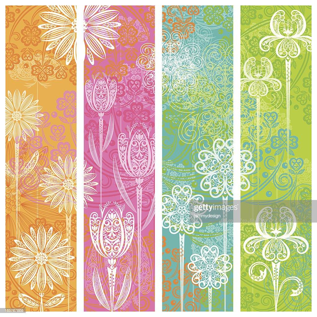 Banners florais : Ilustração
