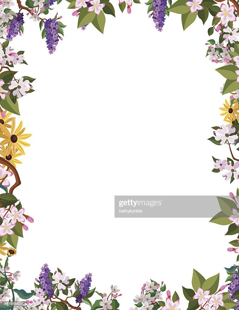 flower border frame : Stock Illustration