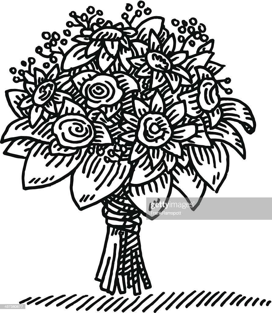 Flower bouquet drawing vector art getty images flower bouquet drawing vector art izmirmasajfo