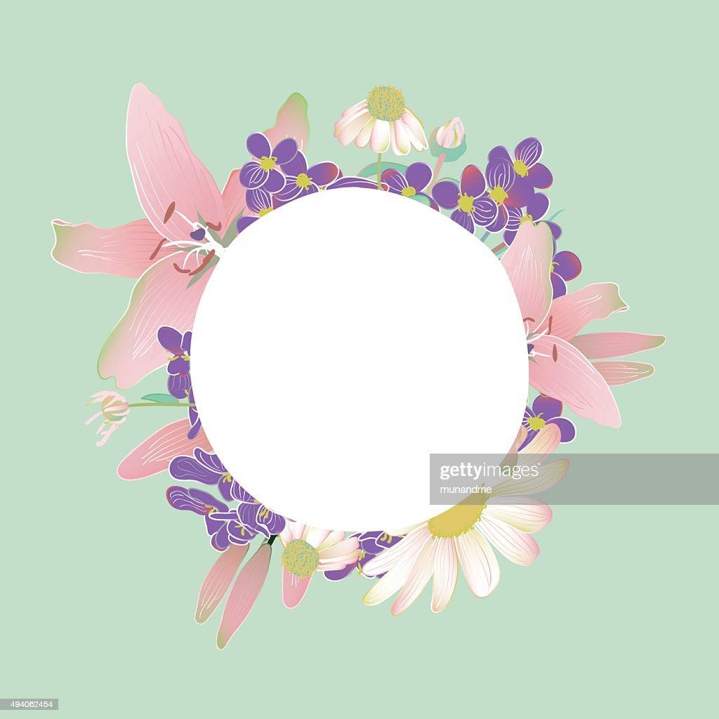 Flower bouquet for wedding card