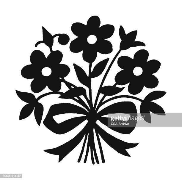 flower bouquet - bunch of flowers stock illustrations