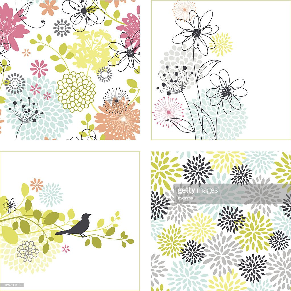 Flower Designs and Seamless Patterns