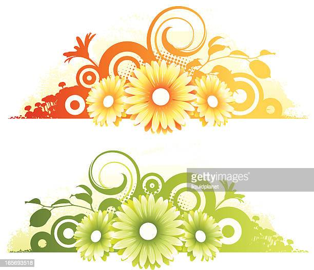 flower designs - plant attribute stock illustrations, clip art, cartoons, & icons