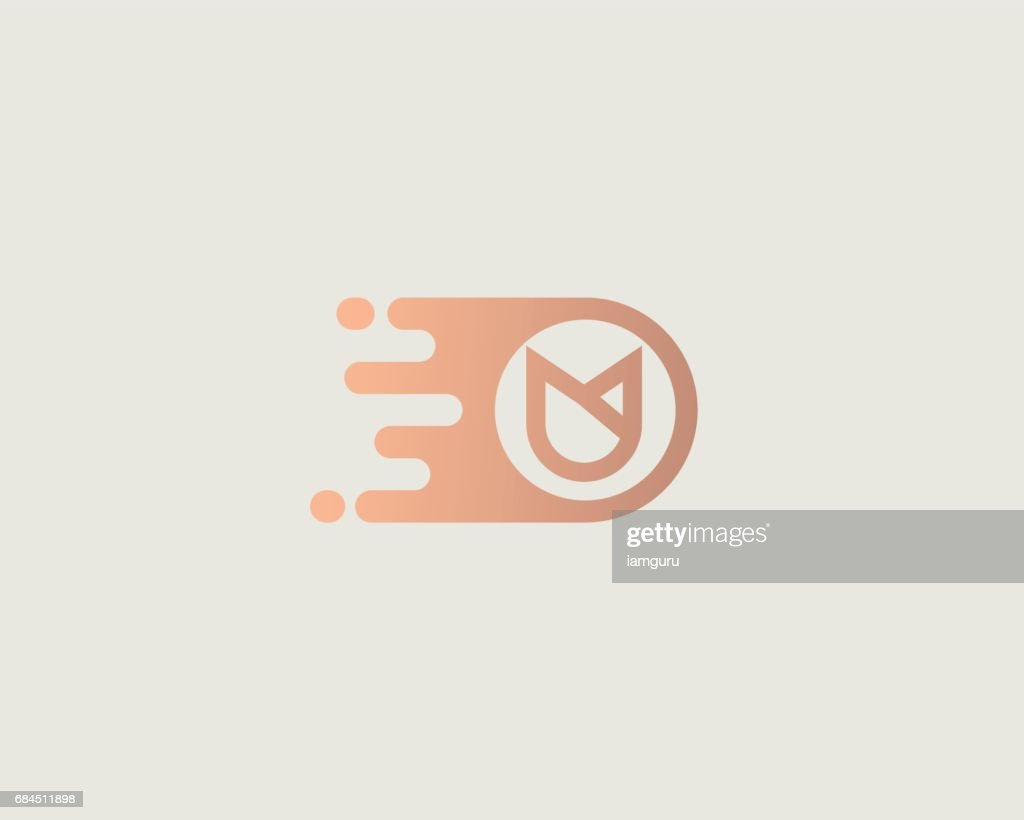 Flower emblem design template. Dynamic vector unusual delivery icon.