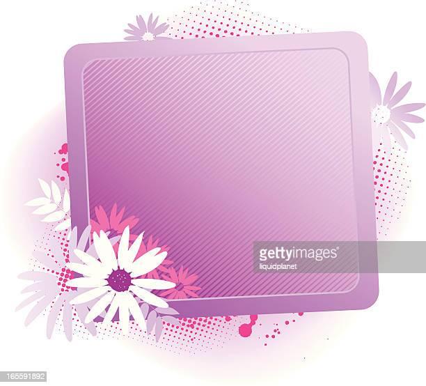 Flower frame pink