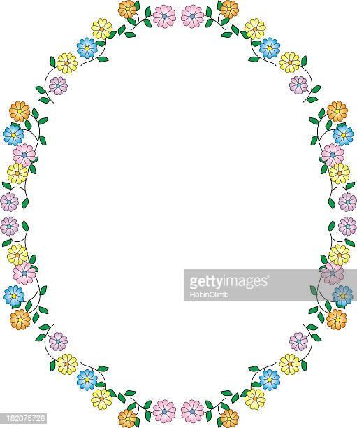 flower frame - femininity stock illustrations