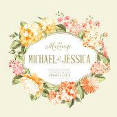 Flower garland for invitation card