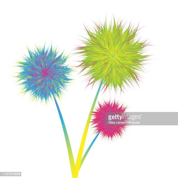 flower grass cartoon - gerbera daisy stock illustrations, clip art, cartoons, & icons
