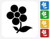 Flower Icon Flat Graphic Design