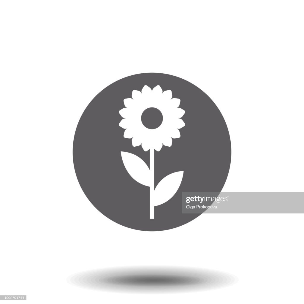 Flower Icon in trendy flat style isolated on white background. Spring symbol for your web site design, logo, app, UI. Vector illustration