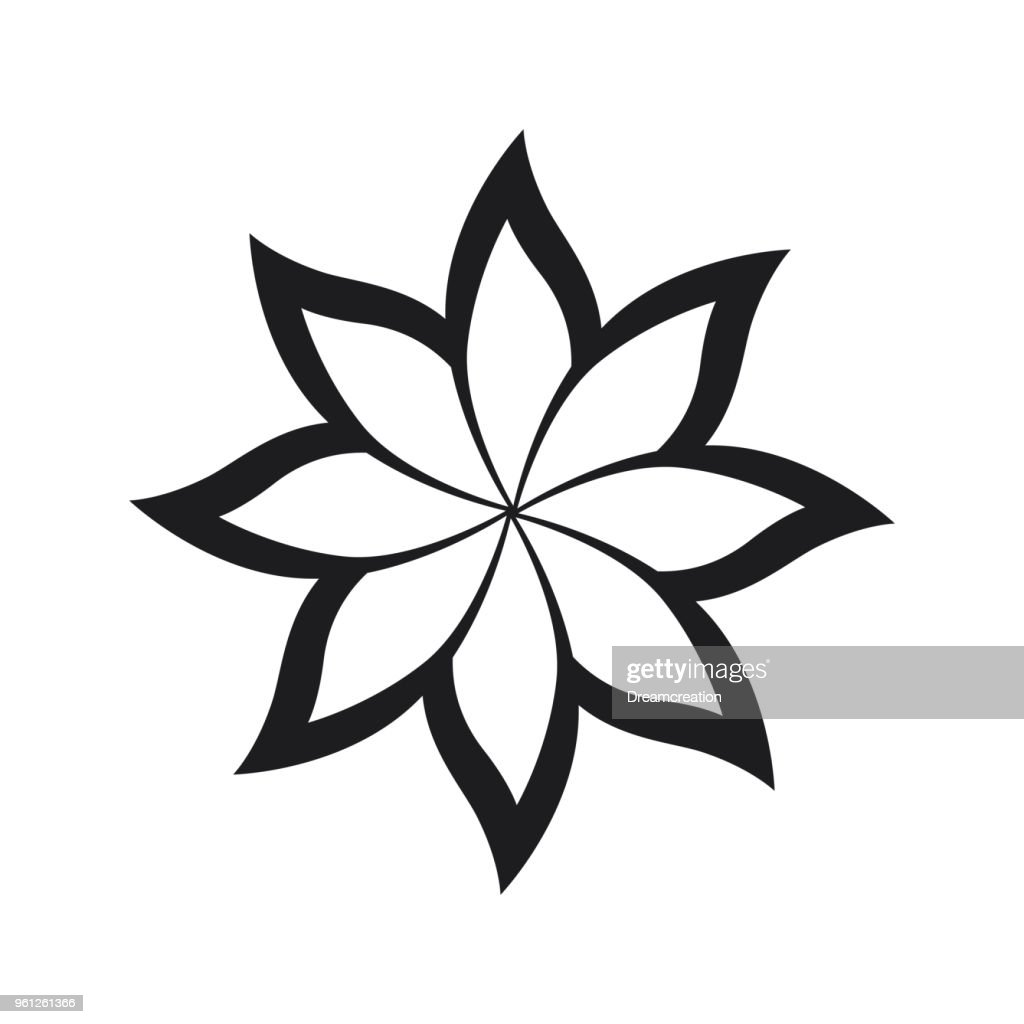 Flower Icon on white background
