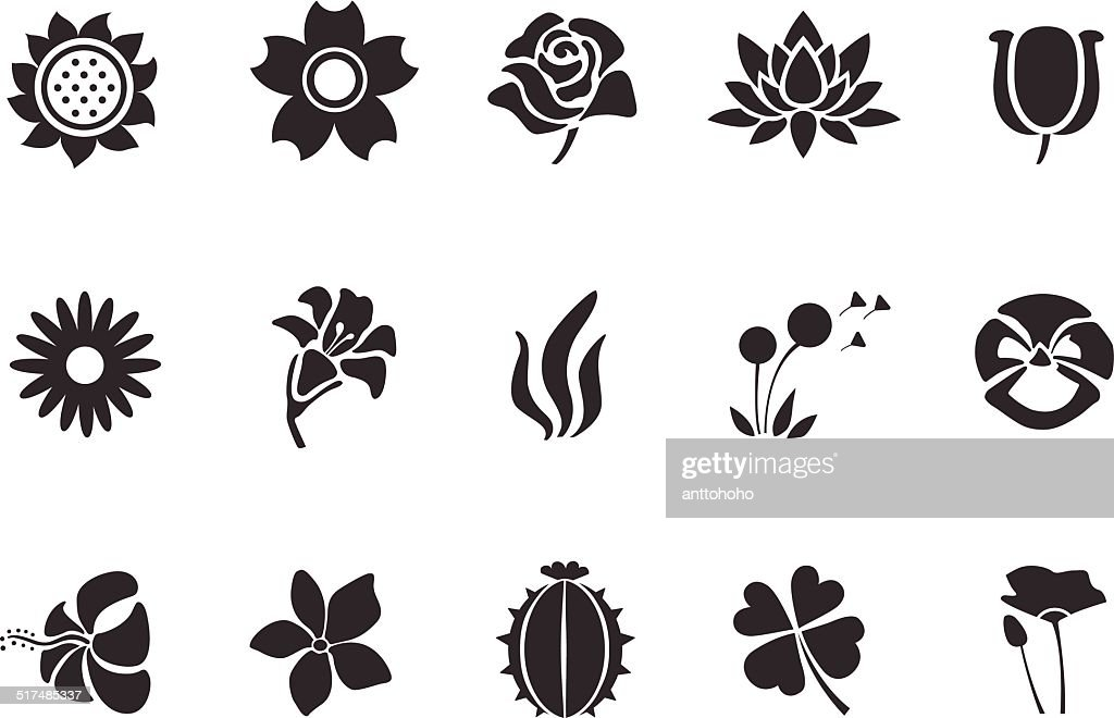 Flower icons - Illustration