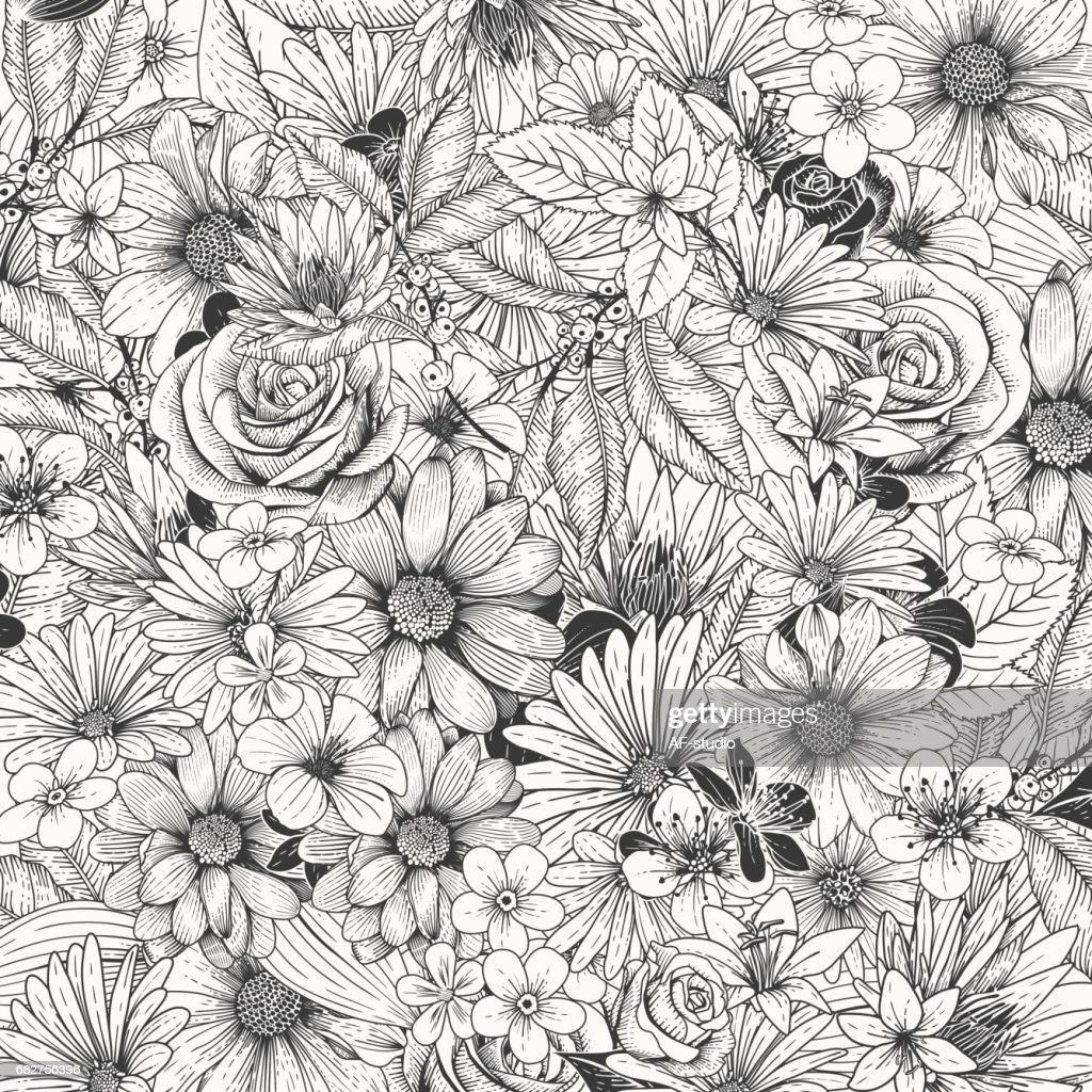 Flower Invitation : stock illustration