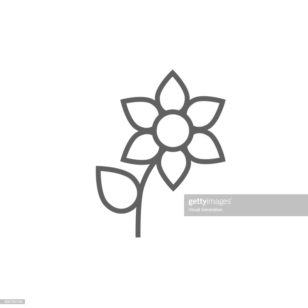 Flower line icon