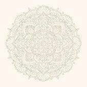 Flower Mandala design illustration.